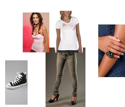 how to wear converse high tops with skinny jeans
