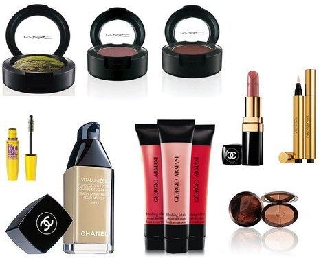 Maybelline, M·A·C, Chanel, Yves Saint Laurent, Guerlain, Giorgio Armani