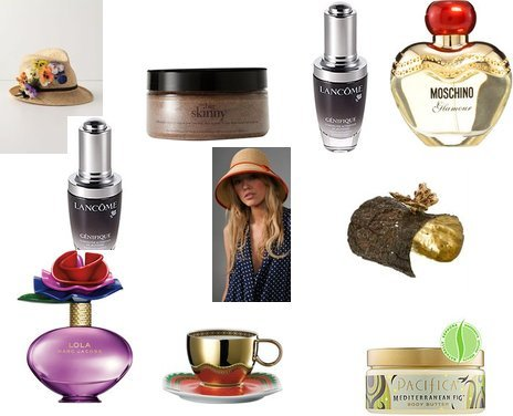 Lancome, Vivre, Versace By Rosenthal, Eugenia Kim, Pacifica, philosophy, Marc Jacobs, Moschino, Lancome, Anthropologie