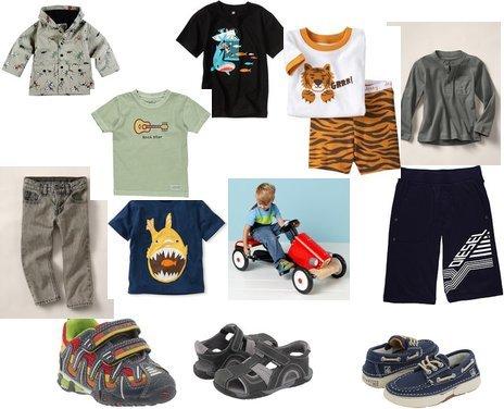 Old Navy, Gap, Small Paul, Geox, pediped, Sperry