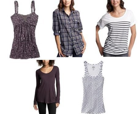 Old Navy, Gap, Gap, Gap, American Eagle
