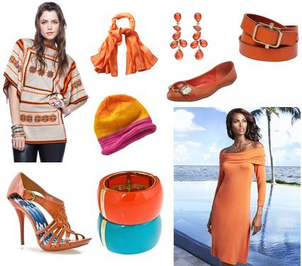 Cute Outfits for Fall in Orange | My Vogue Trendy, Cute Outfits, Women Fall 2010 Clothing Reviews :  fall colors cute outfits orange outfits trendy and affordable clothing