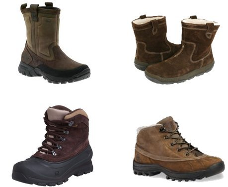 Sorel, Timberland, Clarks, Merrell