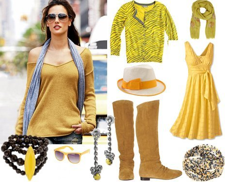 Fall Winter Cute Outfits in Sunny Yellow My Vogue Trendy Cute Outfits Women Fall 2010 Clothing Reviews from my-vogue.com