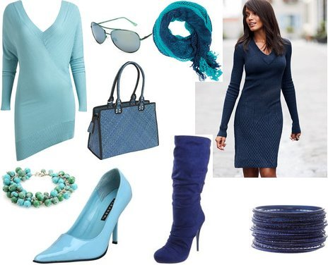 Cute Outfits in Blue for the Winter Holiday Season | My Vogue Trendy, Cute Outfits, Women Fall 2010 Outfit Reviews from my-vogue.com