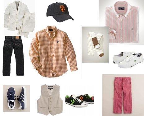 Lacoste, Converse, adidas, Gap, Levi's, Nautica