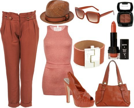 Summer Outfits in Rust Colors