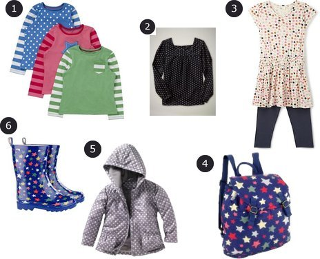 Gap, New Look, Cath Kidston, La Redoute, Star Kids