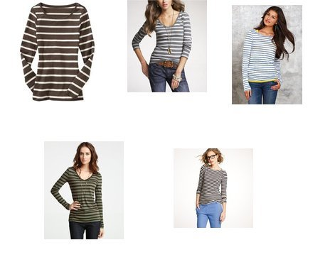 J.Crew, Ann Taylor, Delia's, Express, Old Navy