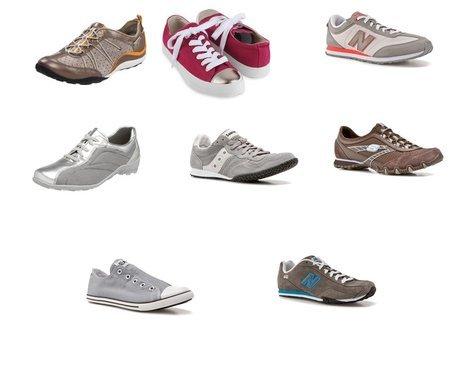 New Balance, Converse, Skechers, Saucony, ara
