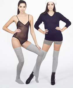 Heather Solid Thigh-High Sock - Socks