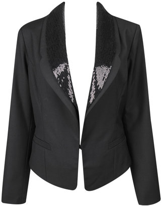 The Look for Less: Style Portfolio Sequin Lapel Jacket - The
