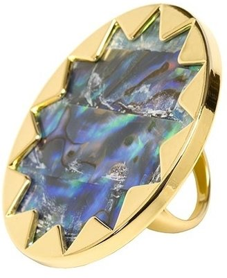 House Of Harlow By Nicole Richie Starburst Cocktail Ring With Abalone - Decorative Rings