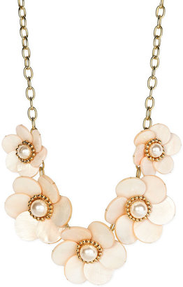 Kate Spade 'garden Party' Graduated Floral Necklace - Gemstone Statement Necklace
