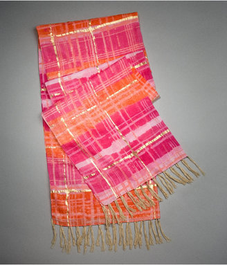 Metallic Tie-Dye Scarf - Patterned Scarf