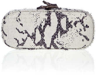 DVF White Zebra Print Box Cutch - Slithering Snakeskin Box Clutches