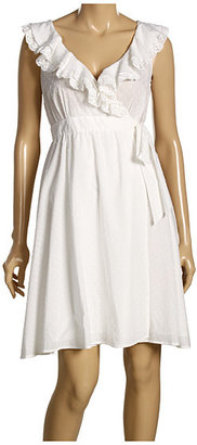 Moschino White Mock-Wrap Ruffle Dress - Clothes
