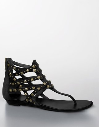 Jessica Simpson Dianara Studded Leather Gladiator Sandals - Studded Sandals