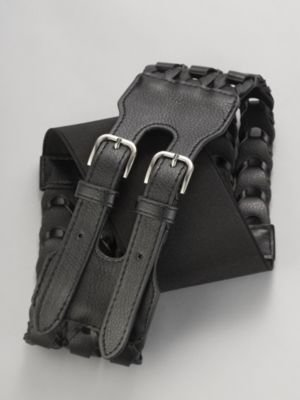 Braided Double Buckle Belt - Accessories