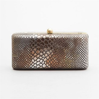 Inge Christopher Hard Case Snake Clutch - Slithering Snakeskin Box Clutches
