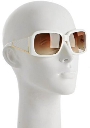 Jimmy Choo white &#39;Ella&#39; square sunglasses - Jimmy Choo