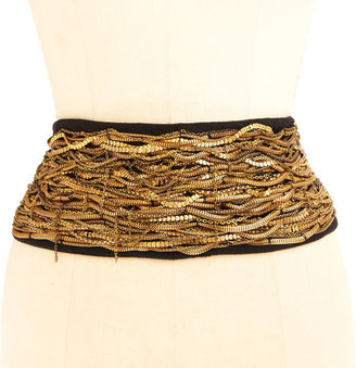 Cecilia De Bucourt Mixed Chain Belt - Black - Rihanna-Style Accessories