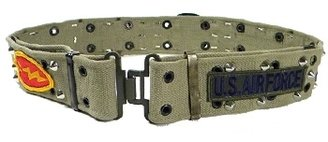 Rockstar - Women&#39;s Khaki Military Multi-Patch Belt - Accessories