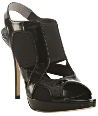 Christian Dior black &#39;Dior Stretch&#39; patent calf sandals - Heels