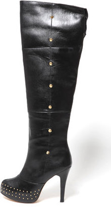 Charlotte Ronson Over The Knee Studded Boots - Fall Boot Trends
