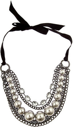 Blu Bijoux Hematite and Pearl Necklace - Layered Necklaces