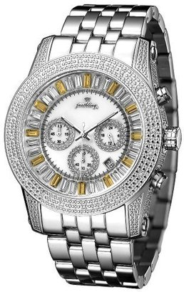 Just Bling Men&#39;s JB-6219-D &quot;Python Silver Gold&quot; Stainless Steel Chronograph Diamond Watch - Endless.com