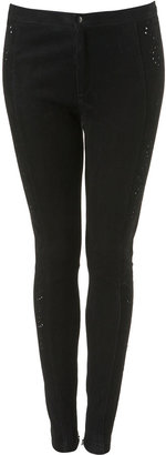 Cutwork Suede Leggings - Clothes