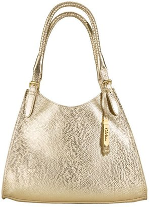 Cole haan &quot;raleigh&quot; small metallic triangle tote - Metallic Purses
