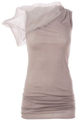 RICK OWENS - Organza shoulder tank top - Clothes