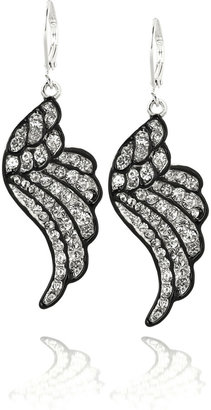 Kenneth Jay Lane Swarovski wing earrings - Dangle Decorative Earrings