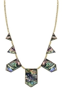 House of Harlow 1960 - Abalone Triangle Necklace *Back Ordered* - House of Harlow
