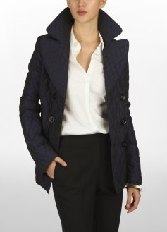 Multi Quilted Taffeta Peacoat - Clothes