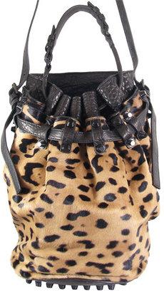 Alexander Wang Diego Bucket Bag In Leopard - Animal Instinct