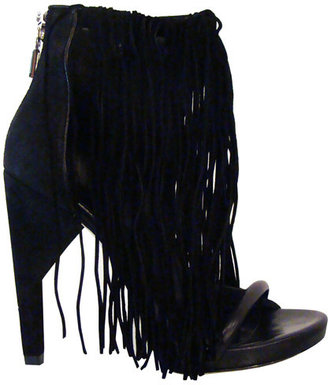 Alexander Wang Dree Fringe Stilettos In Black - The Best of Alexander Wang Shoes