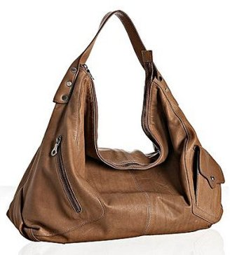 Christopher Kon taupe leather &#39;Genevieve&#39; large hobo - Shoulder Bags