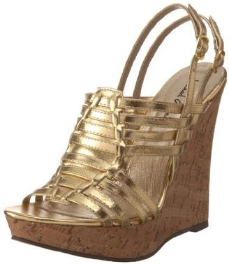 Michael Antonio Women's Halon Platform Sandal - Shimmery Gold Sandals