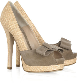 Fendi Raffia and suede pumps - Heels