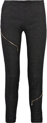 McQ Zipped wool-blend skinny pants - Pants &amp; Shorts