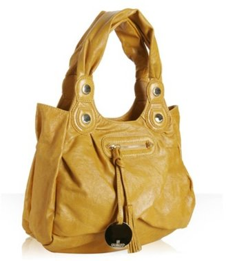 Gustto yellow leather &#39;Sophia&#39; medium shoulder bag - Shoulder Bags