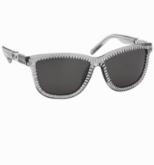 Alexander Wang Zipper Frame Sunglasses in Grey Translucent - Sunglasses