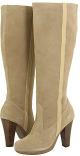 rsvp - Chery (Wide Calf) (Taupe Suede) - Tall Boots For Big Calves