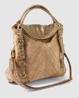 Croco Linen Bag - Shoulder Bags