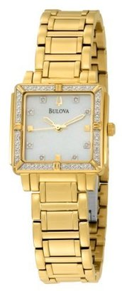 Bulova Women&#39;s 98R131 24 Diamond Case Mother of Pearl Dial Bracelet Watch - Beautiful Bracelet Watches 