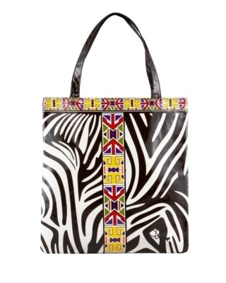 Diane von Furstenberg Egypt Zebra-Print Beach Tote - Printed Leather Handbags
