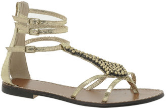 Faith Jian Beaded Flat Sandals - Ethnic Beaded Sandals